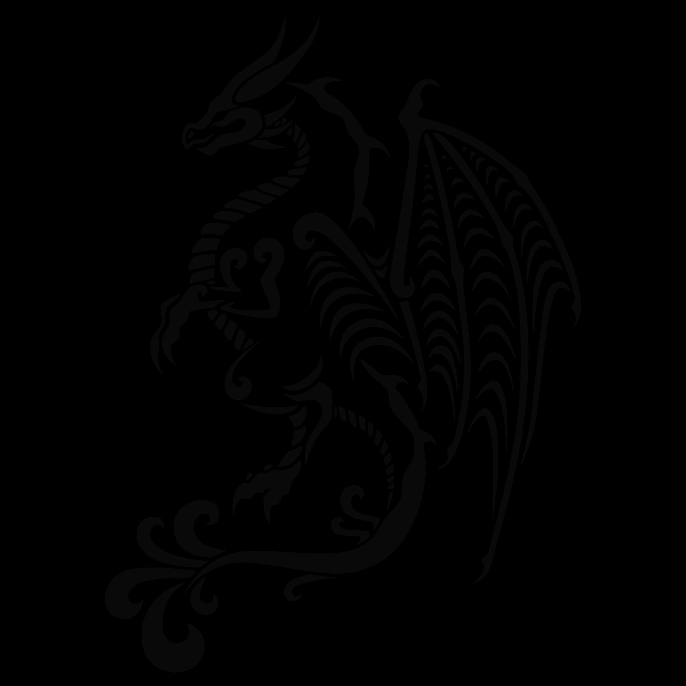 Tattoos transparent transparentpng . Wolf clipart dragon