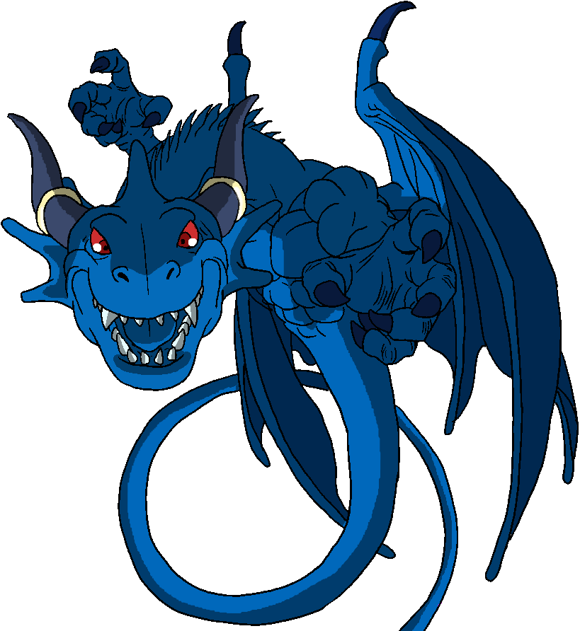 Blue by elltiana on. Wolves clipart dragon