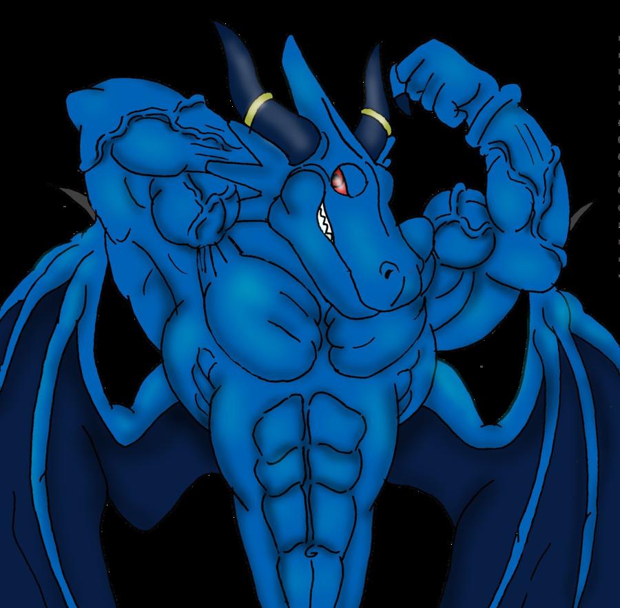 Image blue dragon digital. Muscles clipart flex muscle