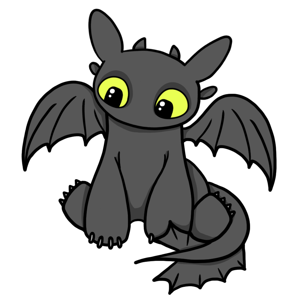 How to train your. Dragon clipart animated