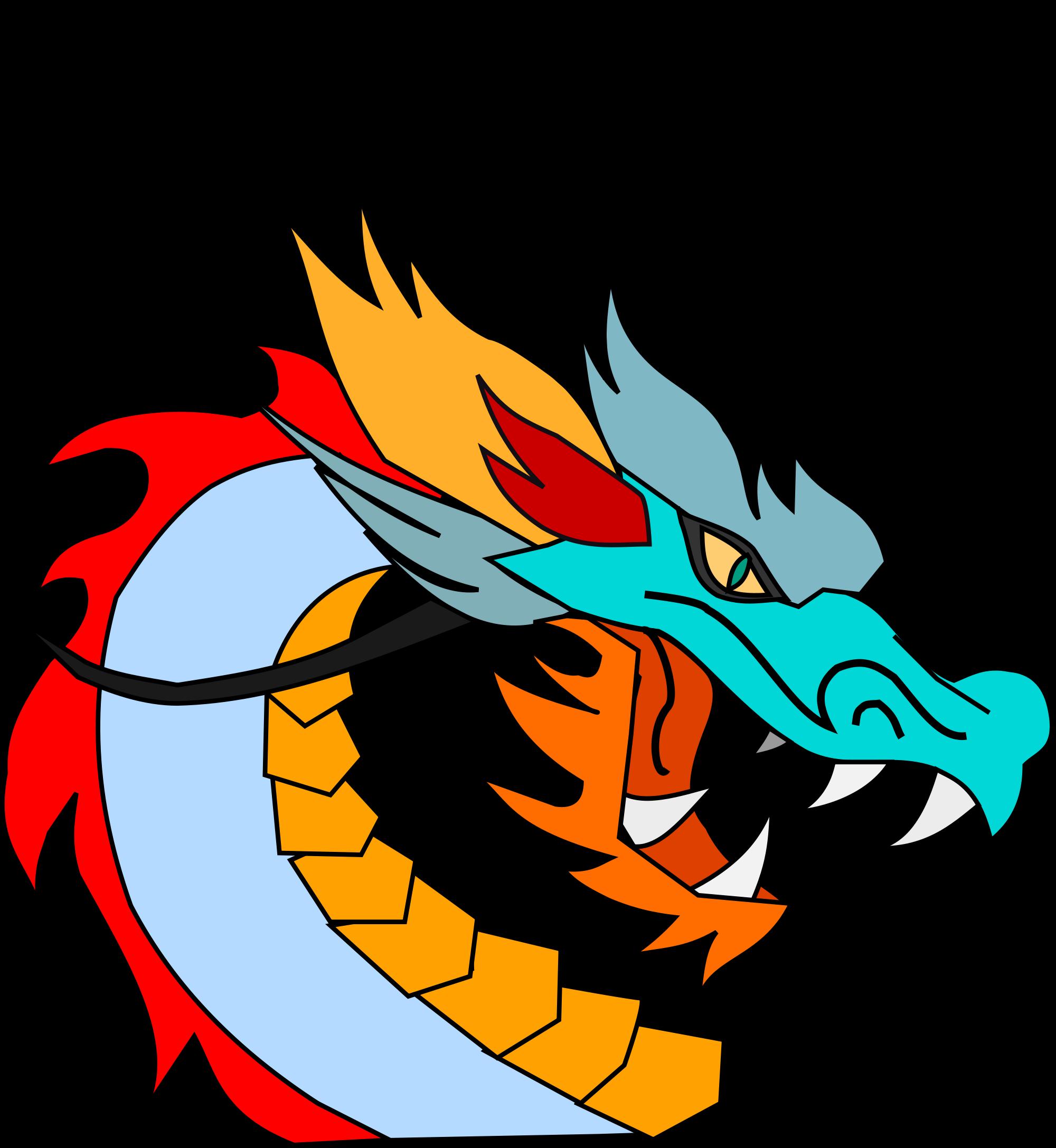 Dragon clipart orange. File clip art svg