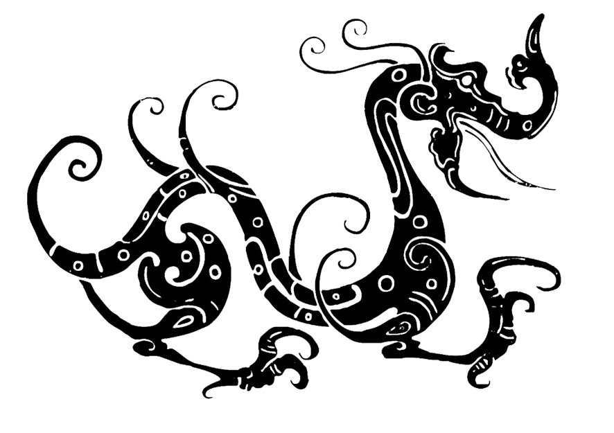 Dragon clipart line drawing. Great pictures of cool