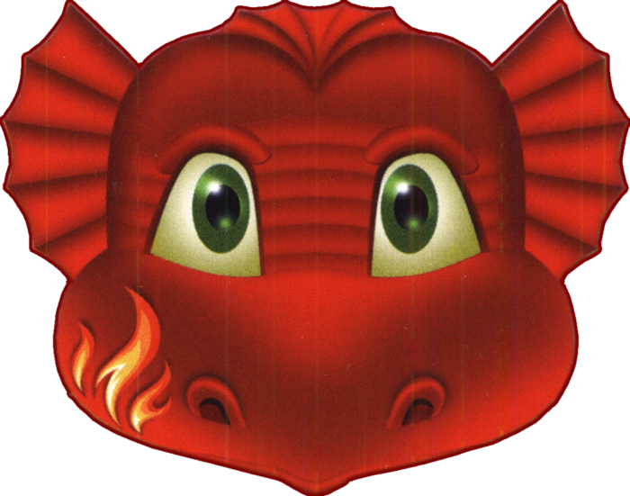 Clipart mustache dap. Red dragon face mask