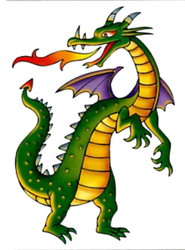 Free pics for kids. Clipart dragon childrens