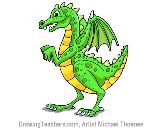 Cute kid how to. Clipart dragon childrens