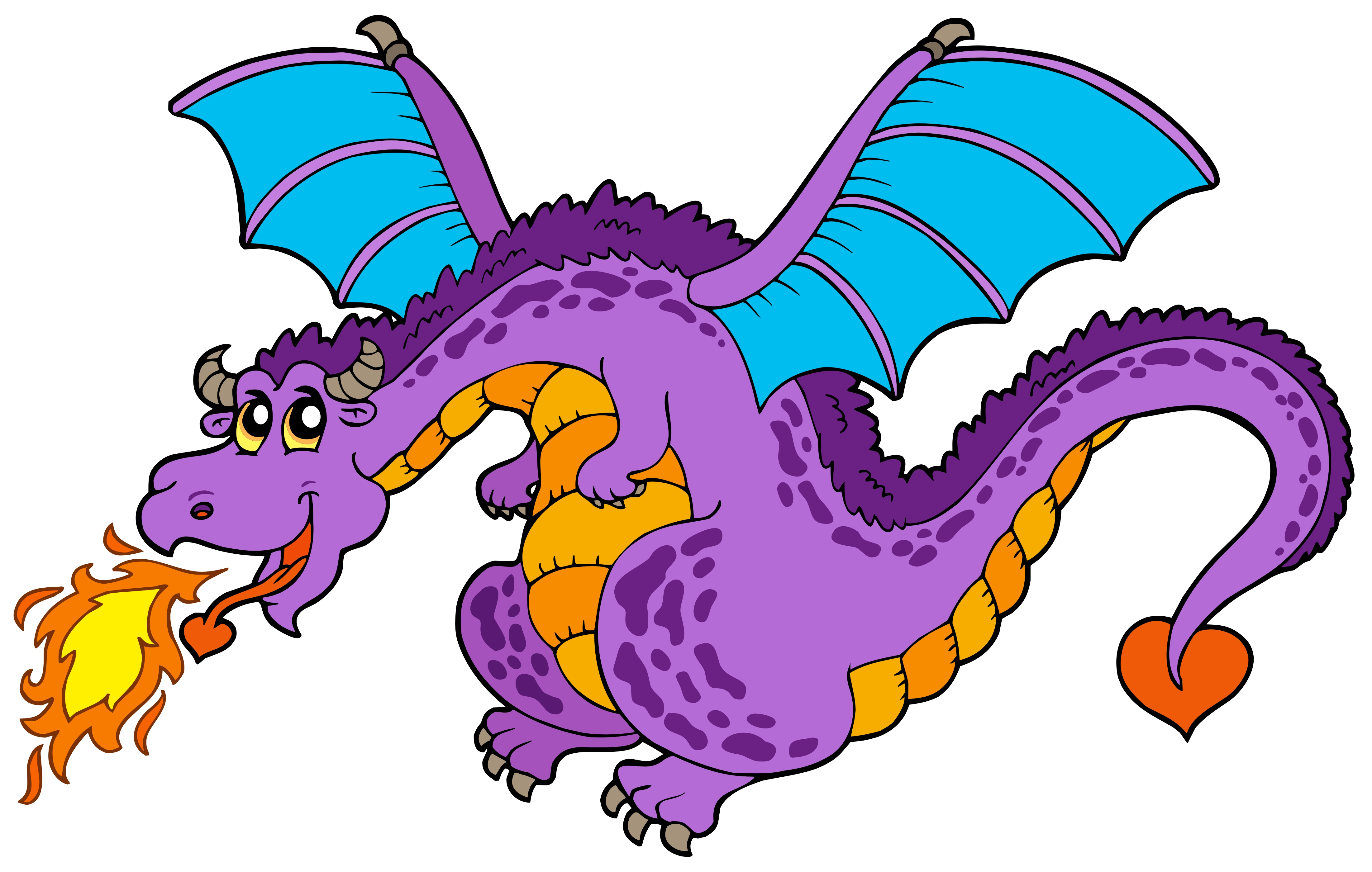 Free images for children. Clipart dragon childrens