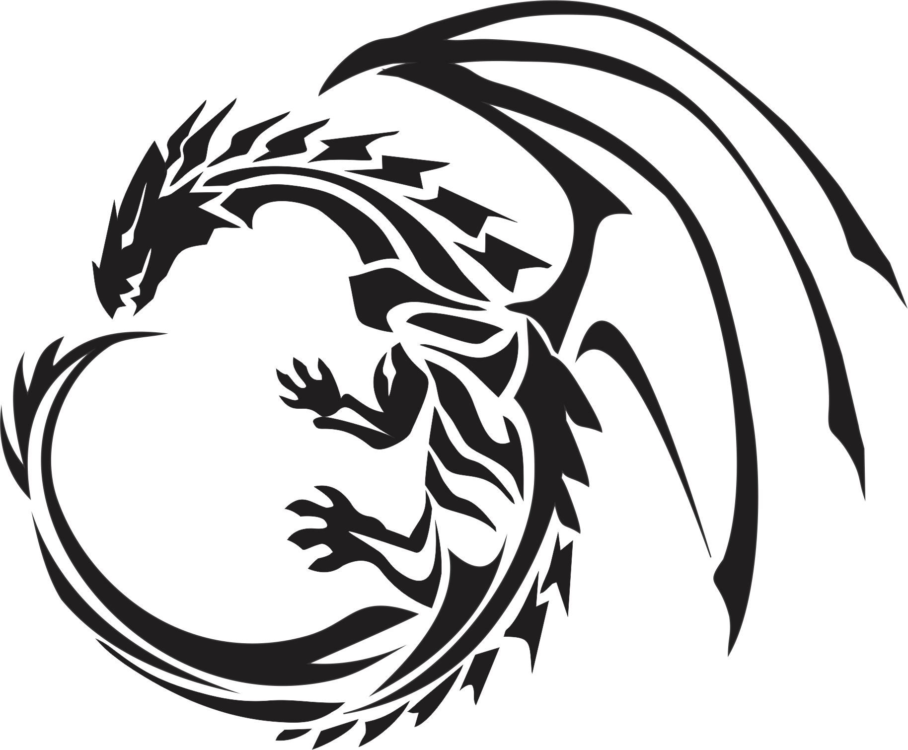Dragon png images. Silhouette tattoos at getdrawings