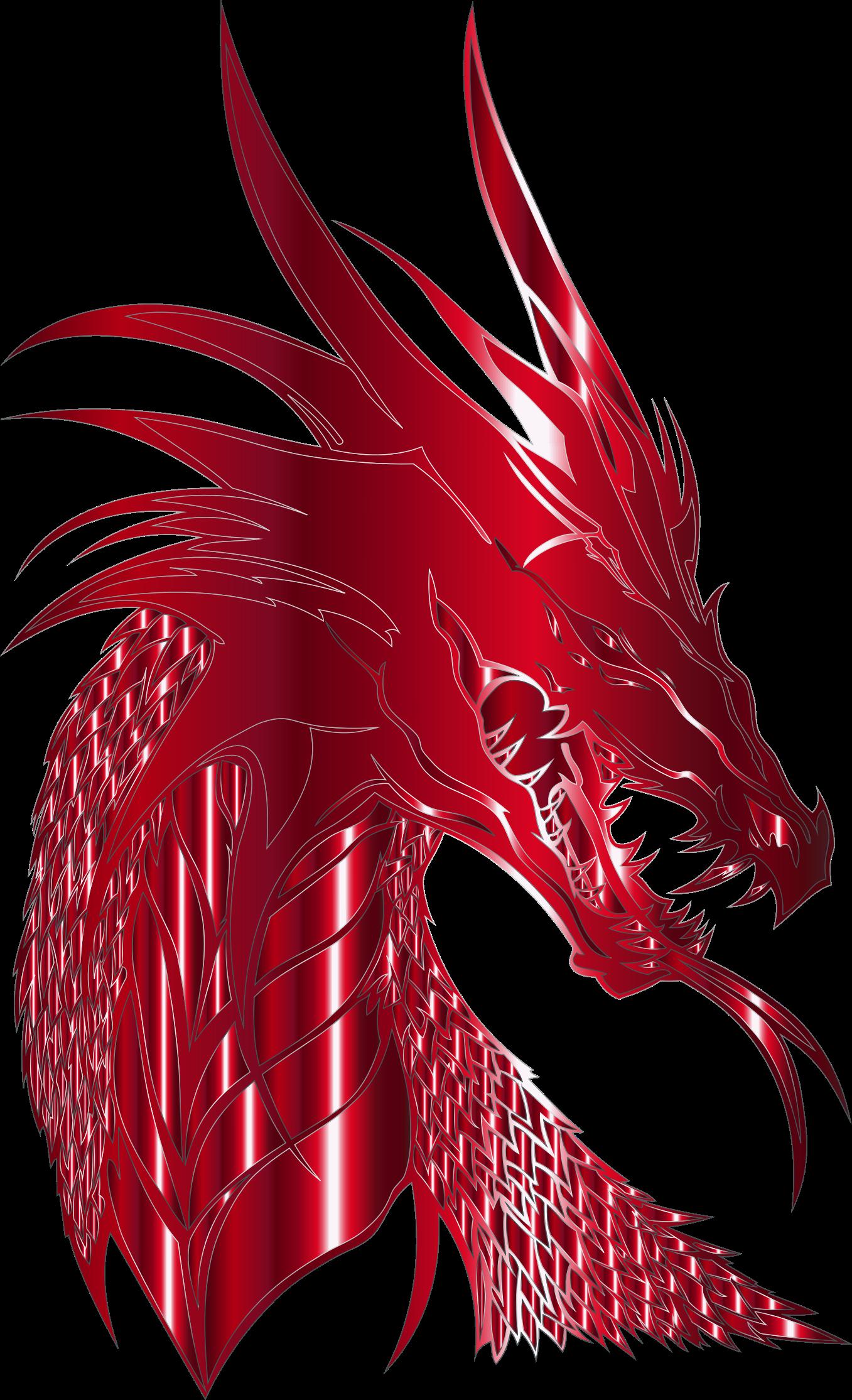 Crimson big image png. Clipart dragon dragon head