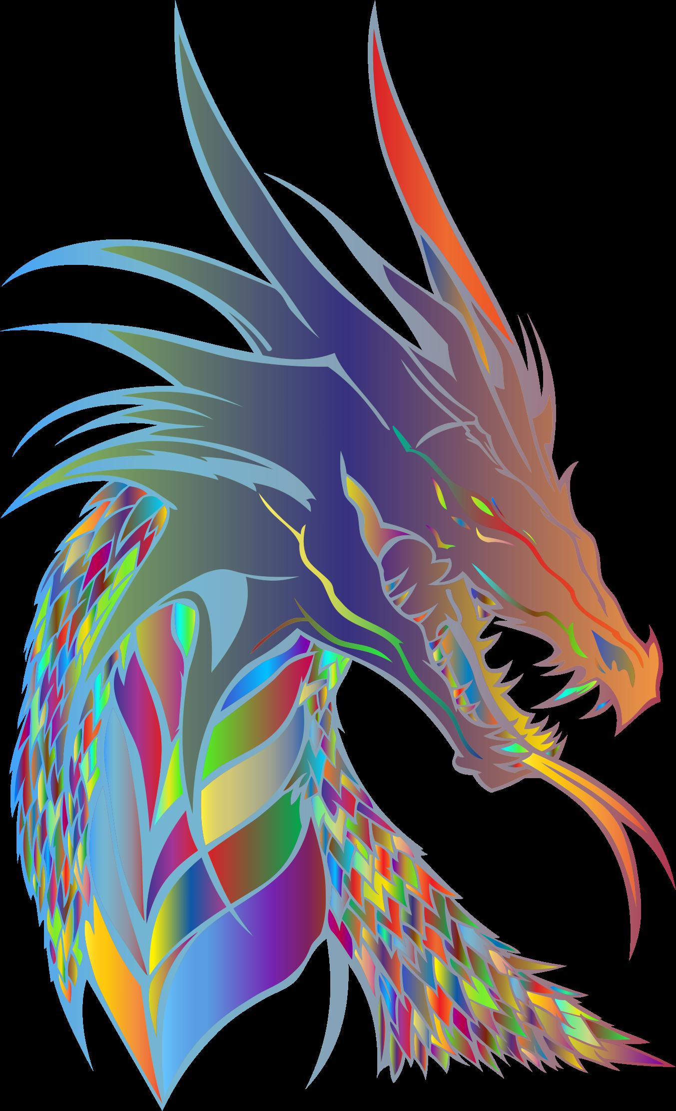 Prismatic big image png. Clipart dragon dragon head