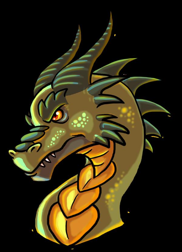 By wforwumbo on deviantart. Clipart dragon dragon head