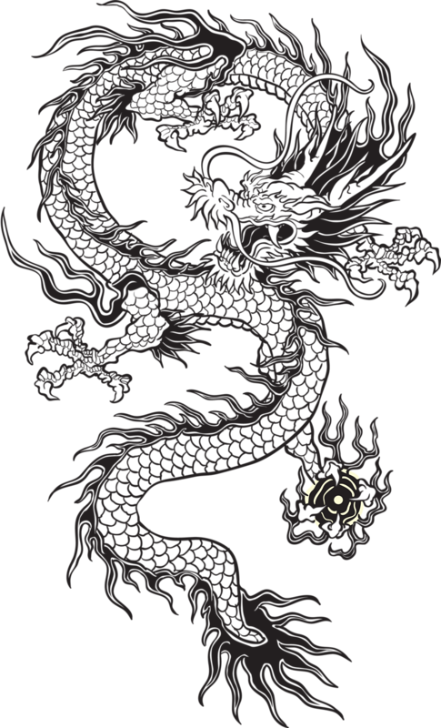 Japan clipart tumblr transparent. Chinese dragon black and