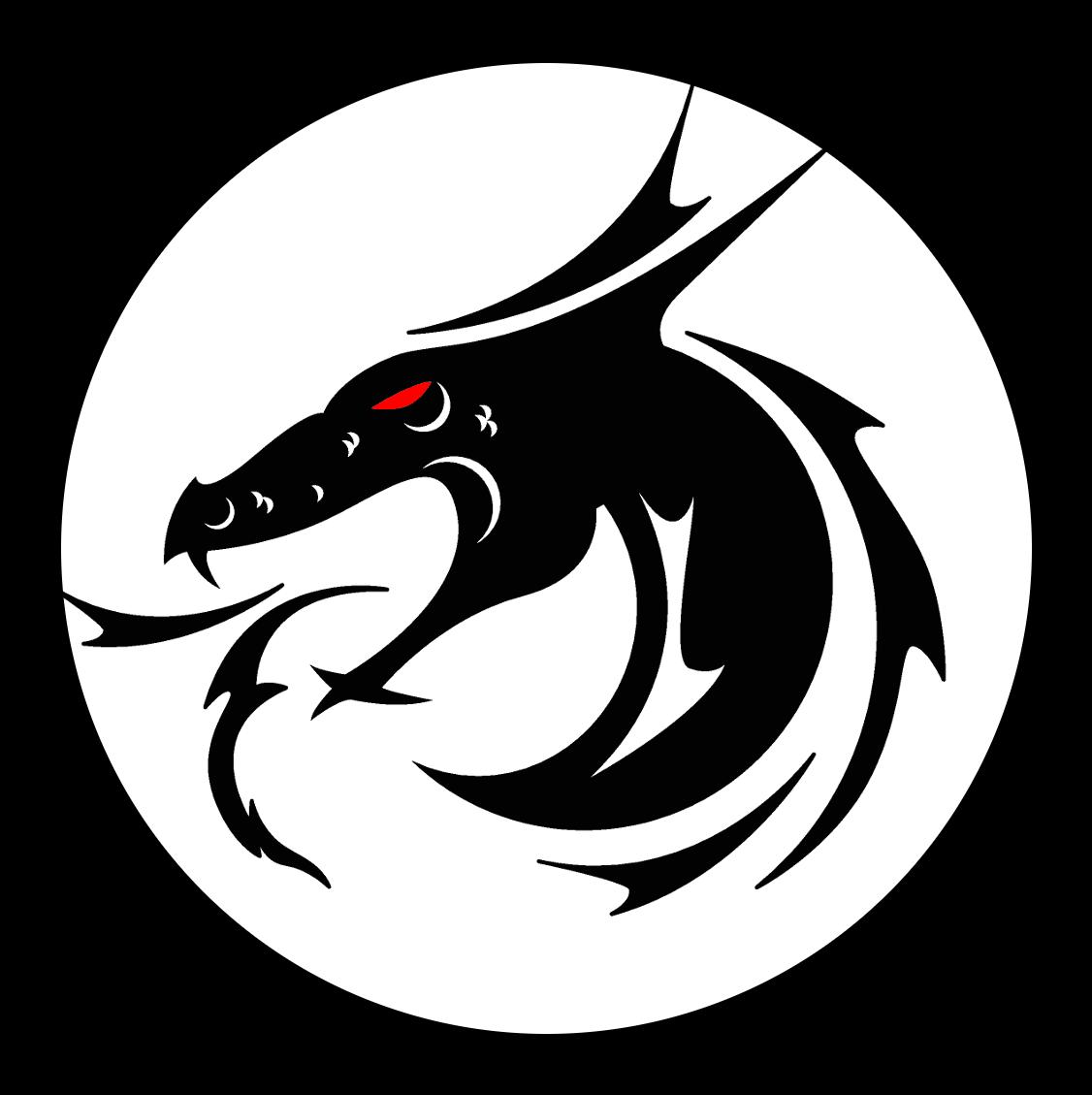 Black dragons strathcona roller. Clipart dragon drogon