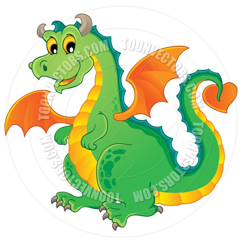 Dragon clipart fairy tale dragon. Cartoon