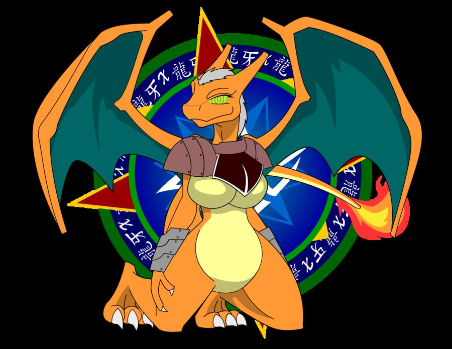 Andero the charizard girl. Clipart dragon female dragon
