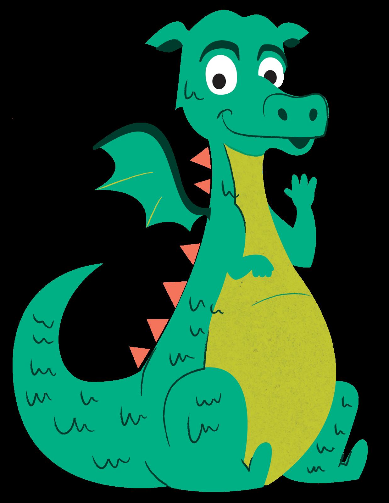 Youtube clipart dragon. For children