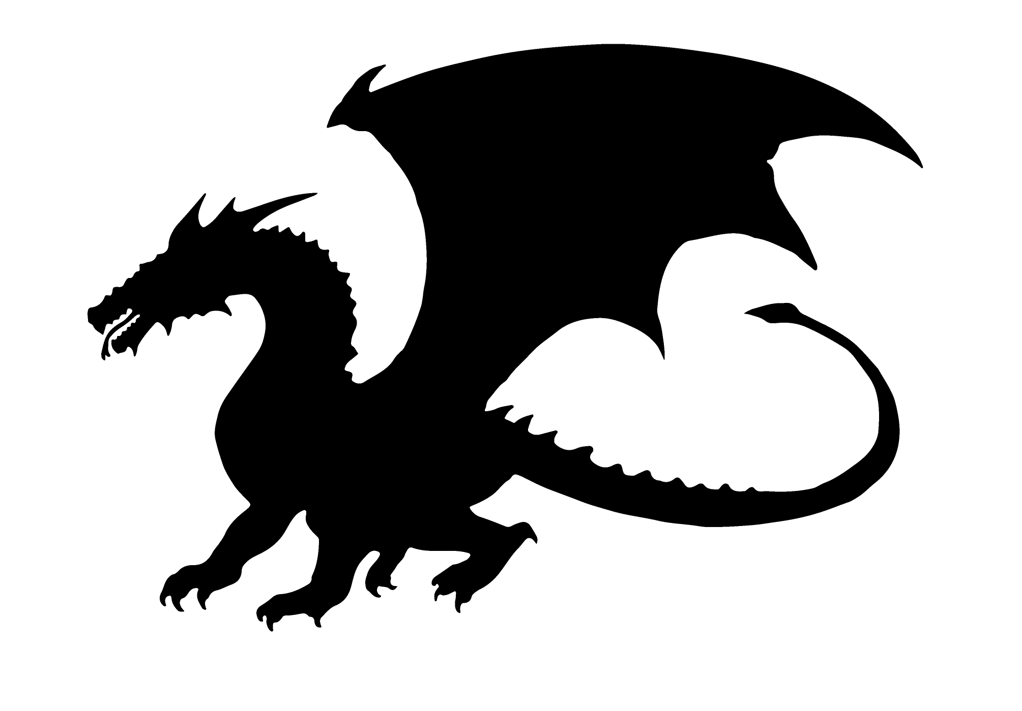 Dragon clipart game throne. Silhouette free at getdrawings