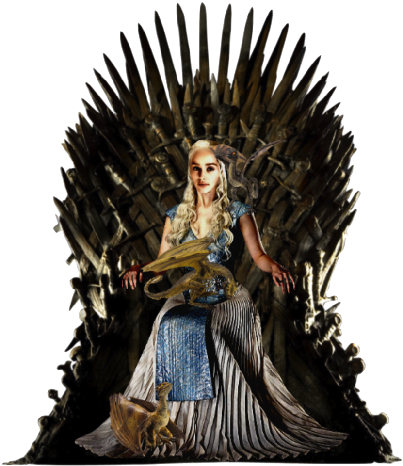 Dragon clipart game throne. Daenerys on iron with