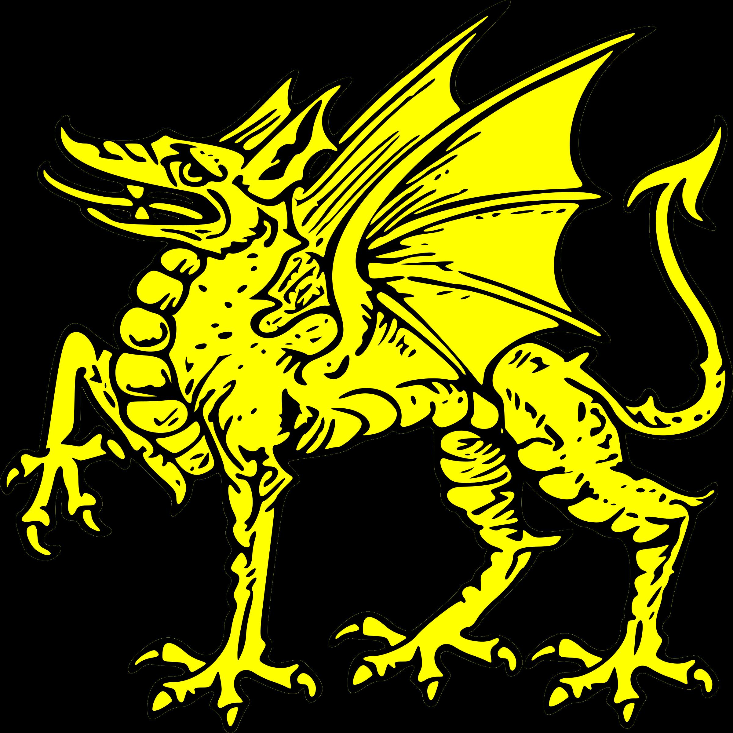 Dragon clipart golden dragon. Passant