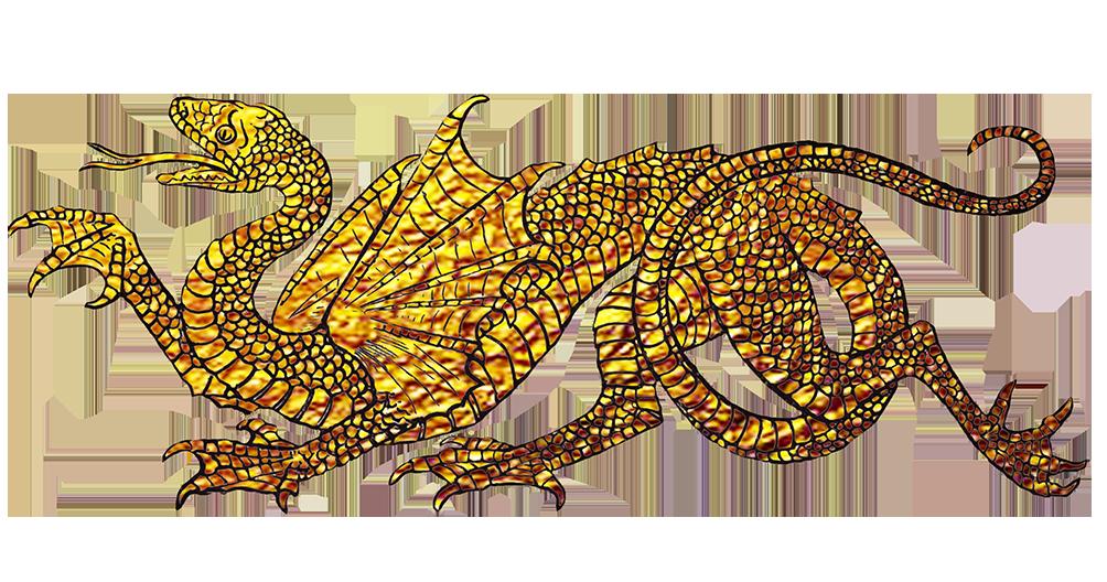 dragon clipart golden dragon
