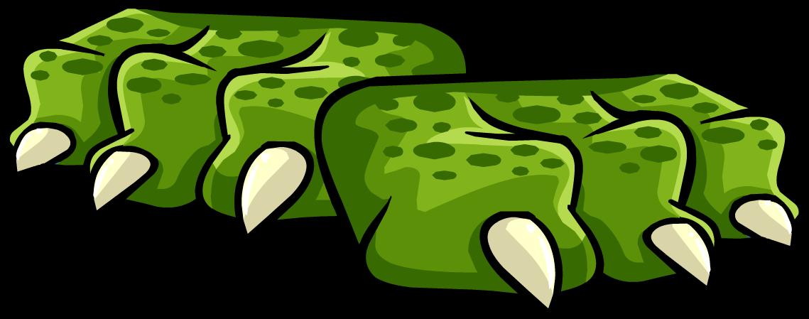 Foot clipart monster. Green dragon feet club