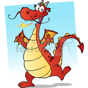 Dragon clipart happy dragon.  cartoon character royalty