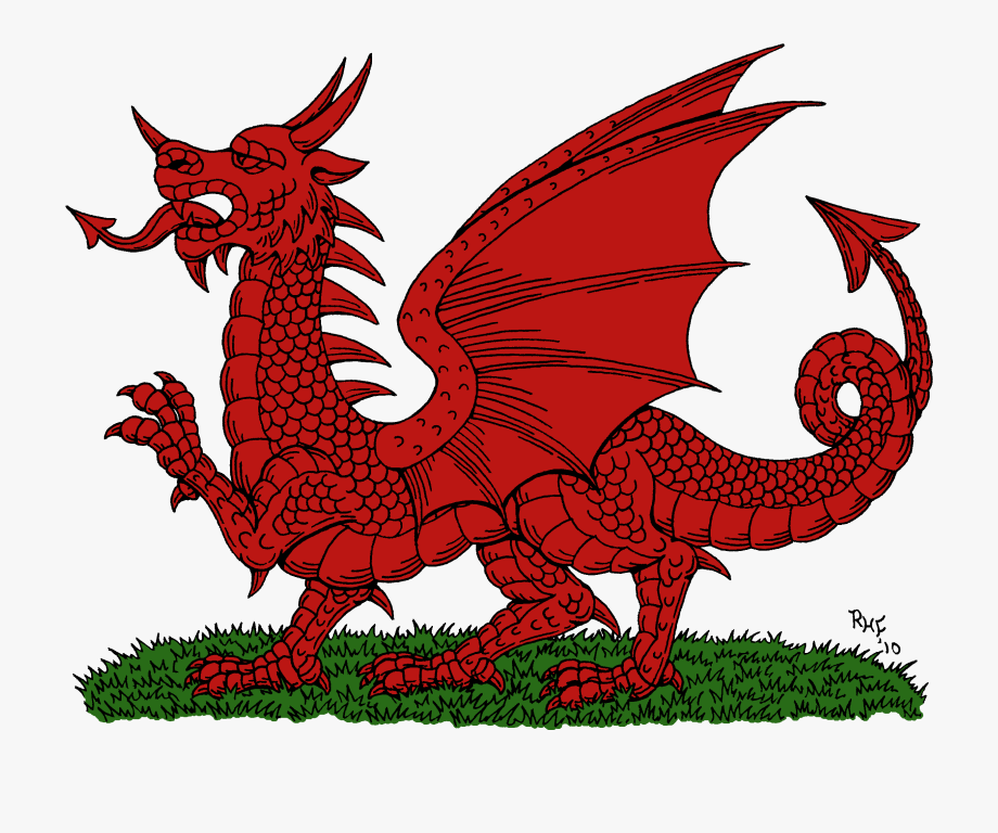Welsh free . Clipart dragon historic