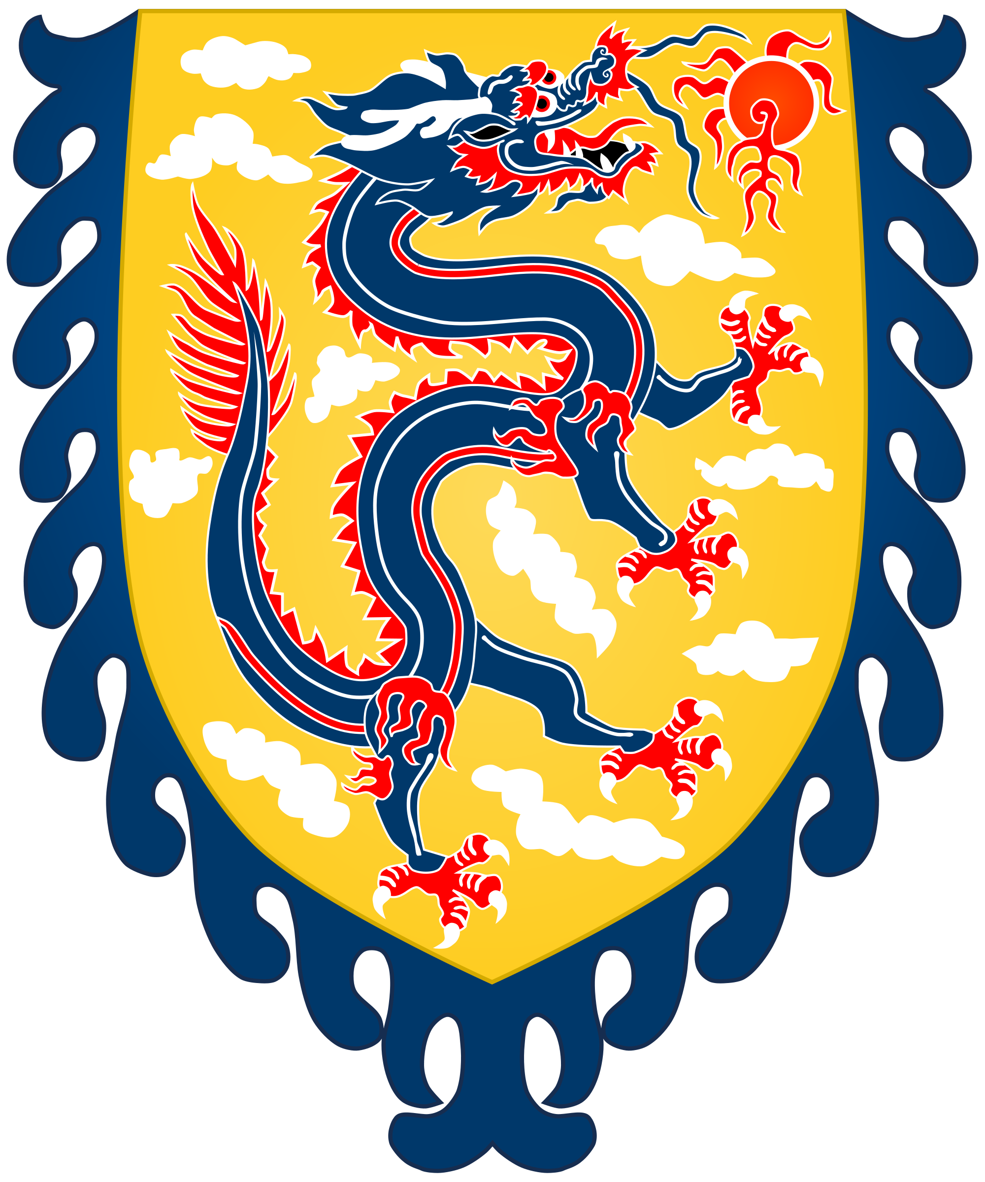 Clipart dragon historic. File chinese banner svg