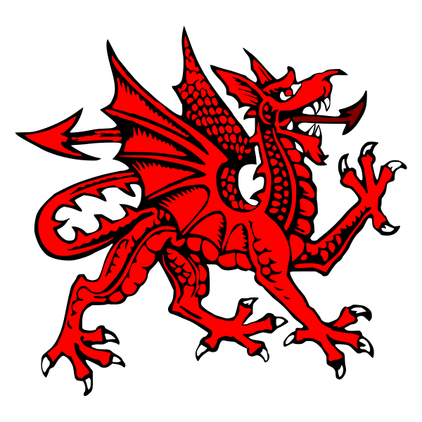 Dragon clipart st georges day. The welsh y ddraig