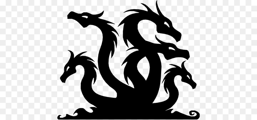 Dragon clipart hydra. Drawing silhouette font