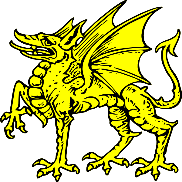 Dragon clipart medieval. Clip art at clker