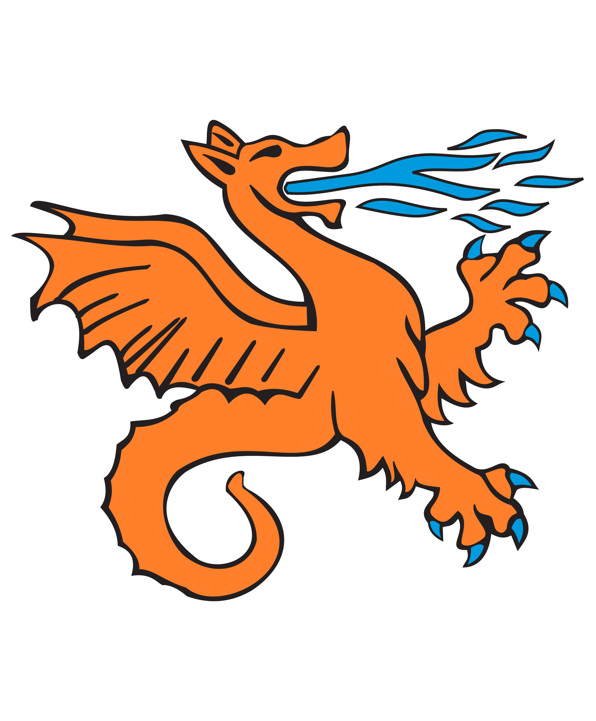 File svg wikimedia commons. Clipart dragon orange