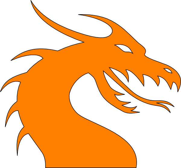 Clip art at clker. Dragon clipart orange