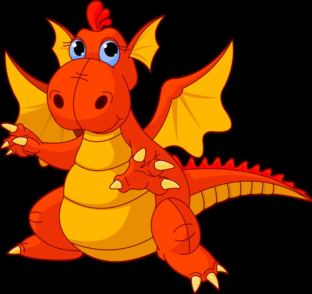 Imprimibles de colores clipartix. Clipart dragon orange