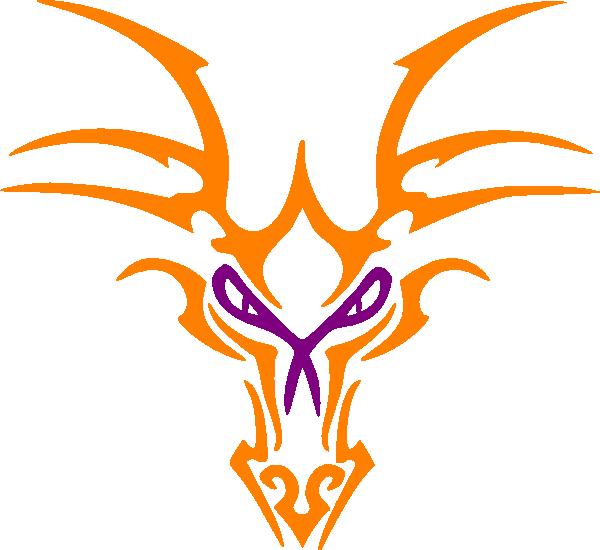 Icon clip art at. Dragon clipart orange