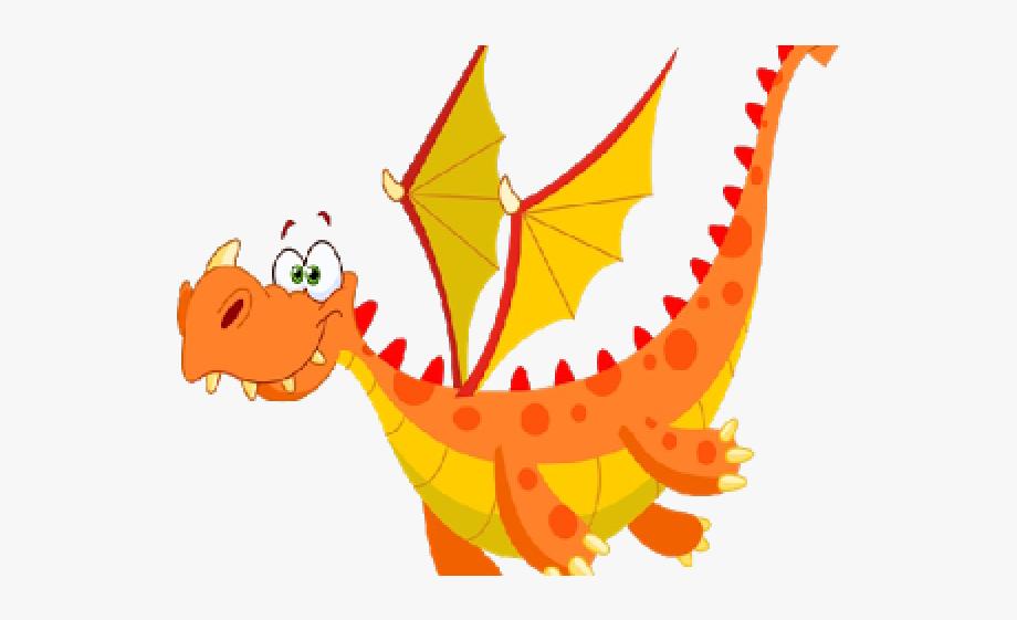 Clip art transparent background. Clipart dragon orange
