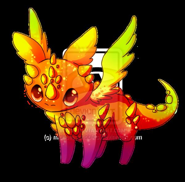 Dragon clipart orange. Image rainbow adoptable by
