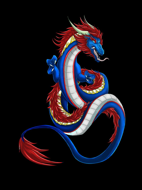 Dragon clipart fierce dragon. Chinese by xblackfangx on