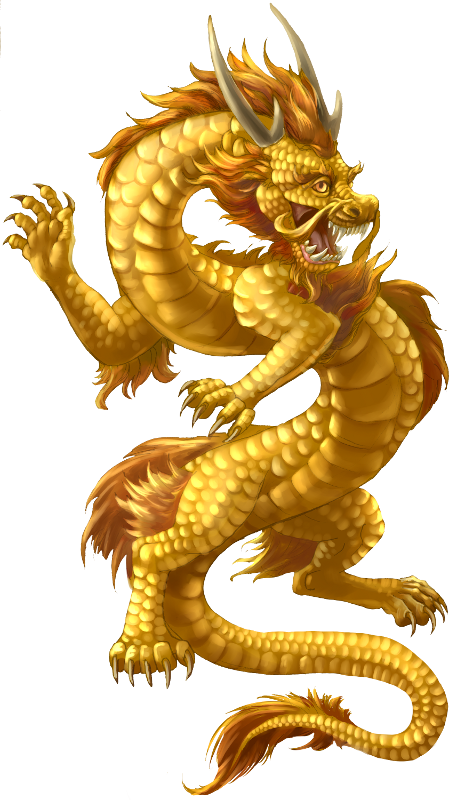 Chinese enter the mythical. Dragon clipart yellow