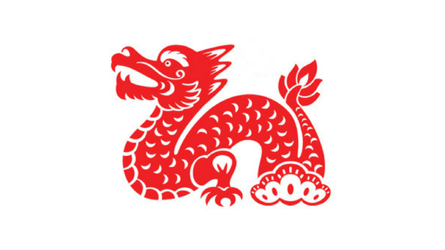 Dragon clipart paper. Chinese new year cutting