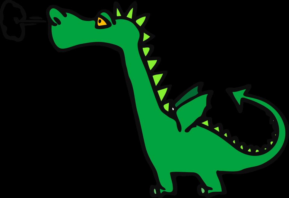 Public domain clip art. Dragon clipart hydra