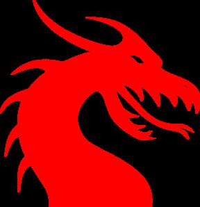 Dragon clipart red dragon. Clip art vector panda