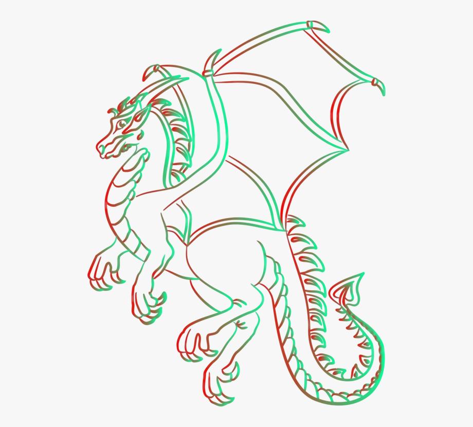 Colorado festival printing line. Dragon clipart renaissance