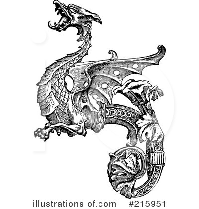Dragon clipart royalty free. Illustration by bestvector