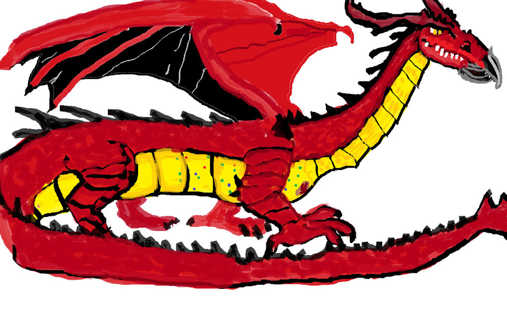 The by dragonfire on. Dragon clipart smaug