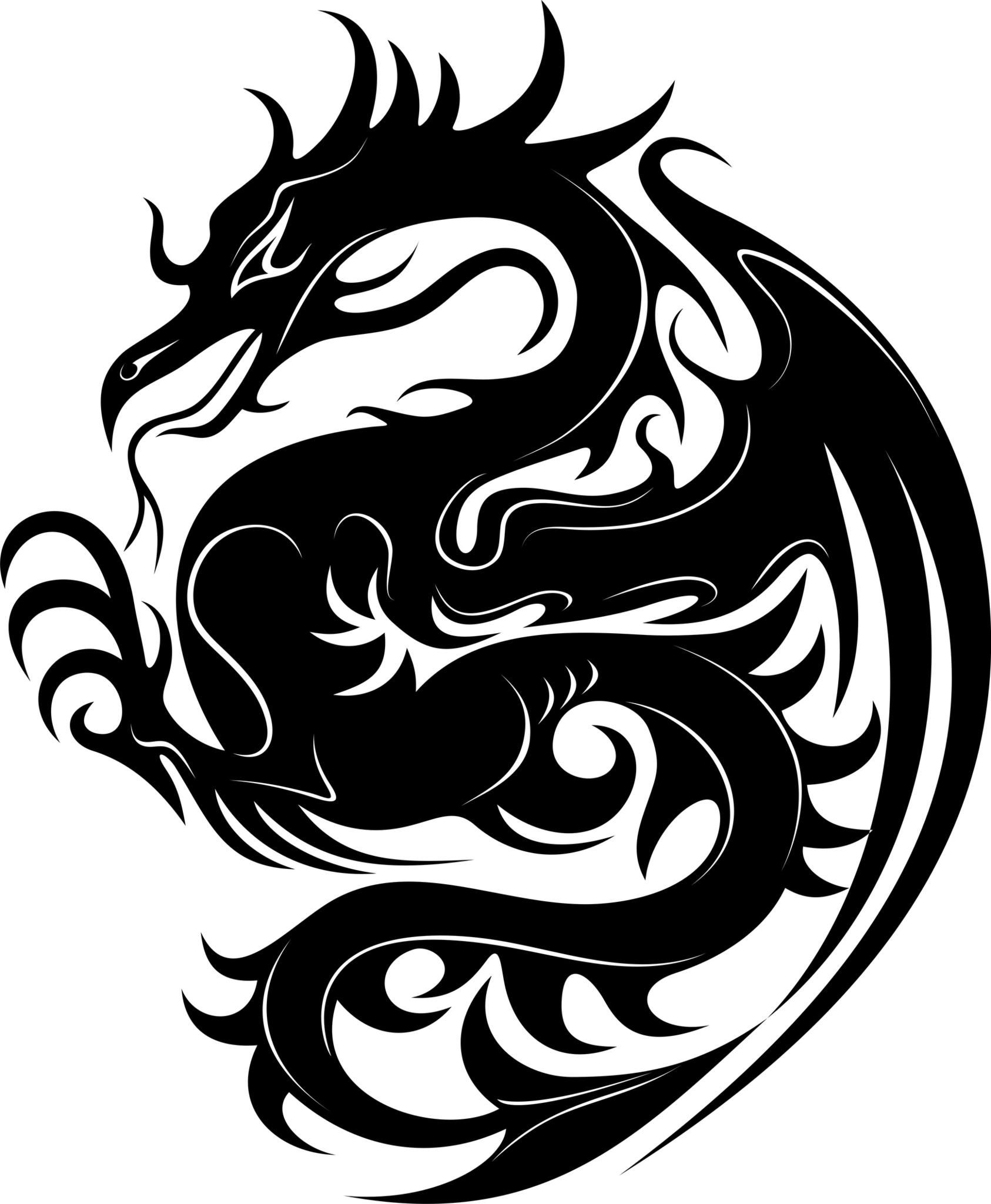 Google search anything celtic. Clipart dragon stencil