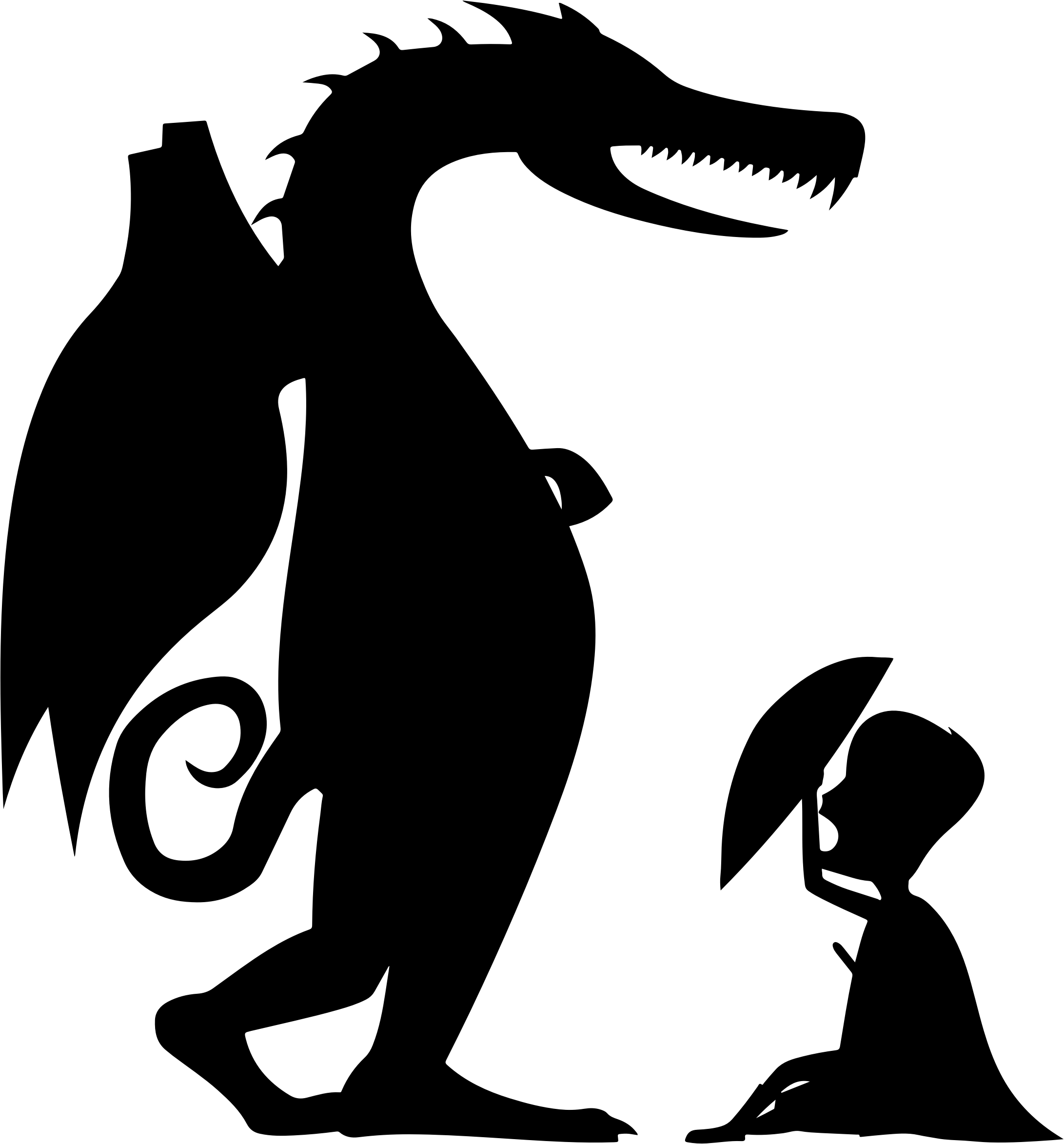 Clipart dragon stencil. George and silhouette big