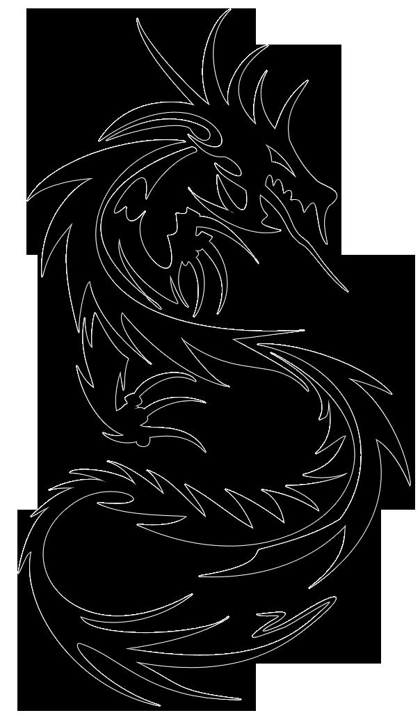 Tribal tattoo design ideas. Clipart dragon stencil