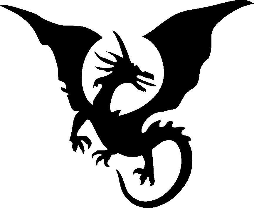 Clipart dragon stencil.  best images of