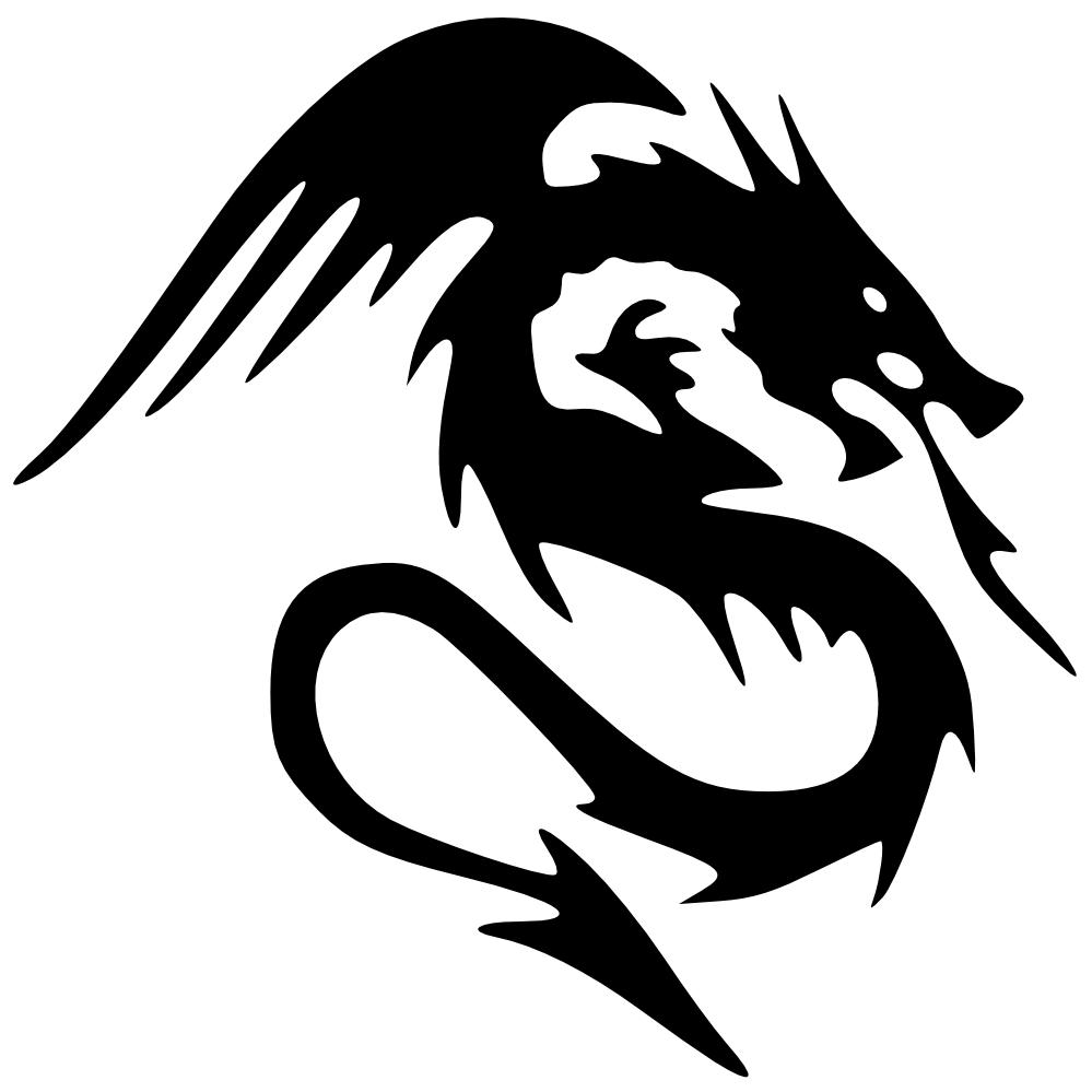 Png transparent dragon free. Yearbook clipart black and white