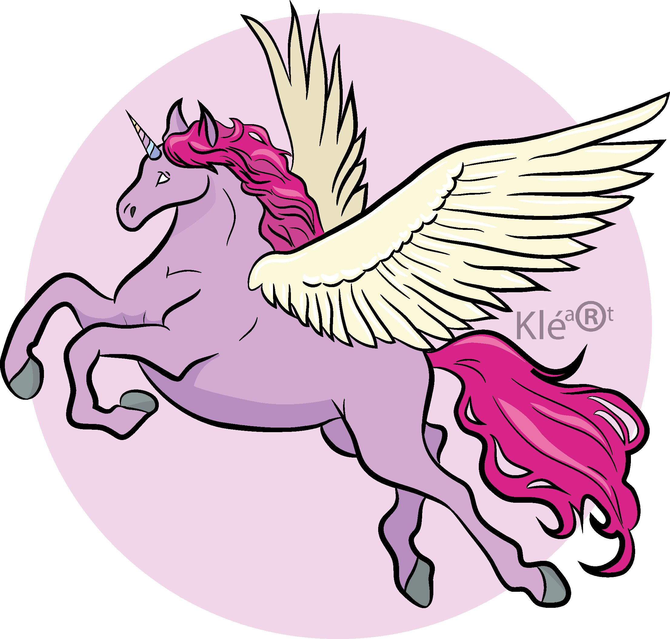 Clipart unicorn doodle. Flying drawing at getdrawings